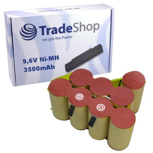Piles 9,6V 3500mAh NI-MH pour Black /& Decker Dustbuster DV9605 Ersatz-Zellen