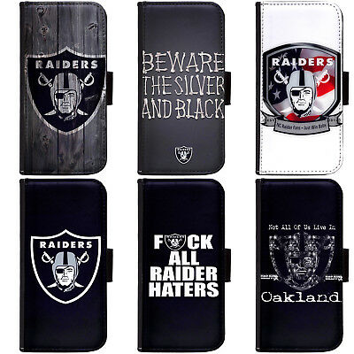 PIN-1 Oakland Raiders Phone Wallet Flip Case Cover for All Models | eBay