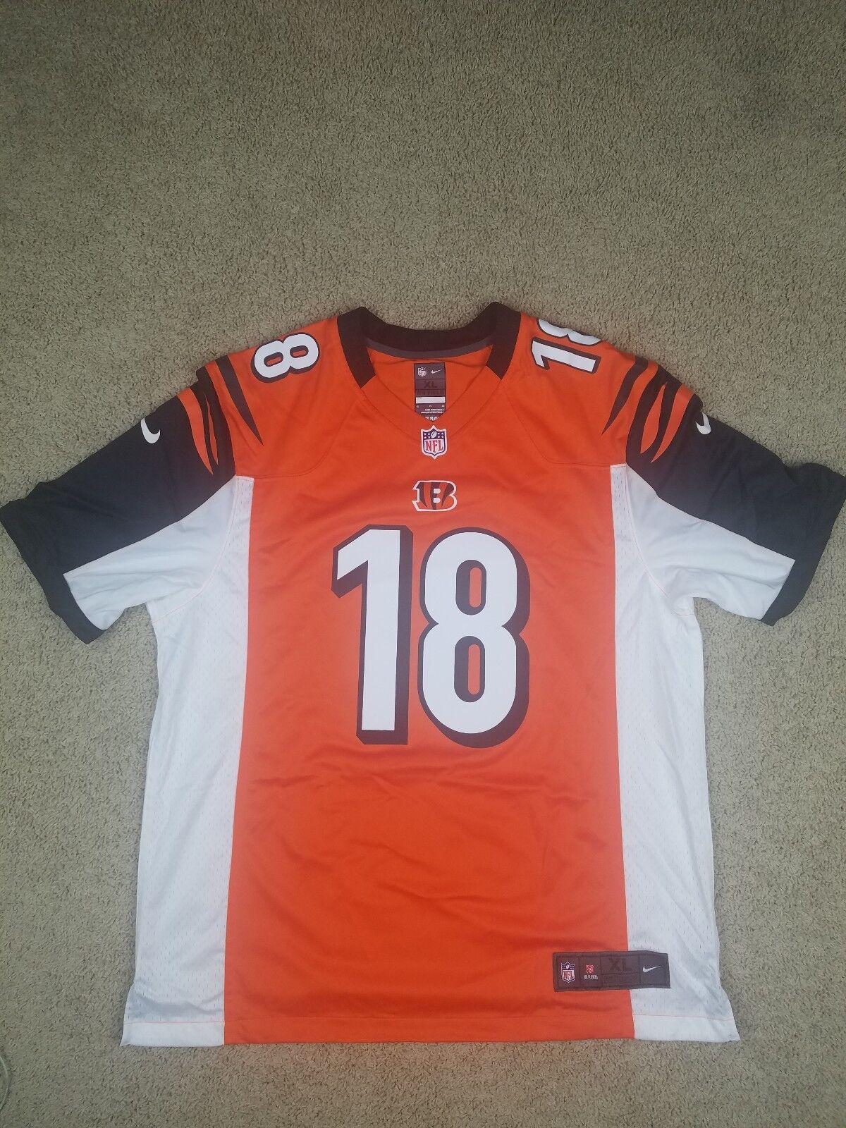 05b27a7a8 Nike NFL Cincinnati Bengals AJ Green #18 on Field Jersey Mens Size ...