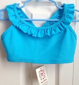 NWT-Hanna-Andersson-110-4-5-6-yr-Pool-Party-Swimsuit-Top-Bikini-Bathing-Suit
