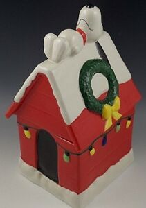 Details About Snoopy Treat Jar Hallmark Cookie Jar Special Edition Charlie Brown Christmas