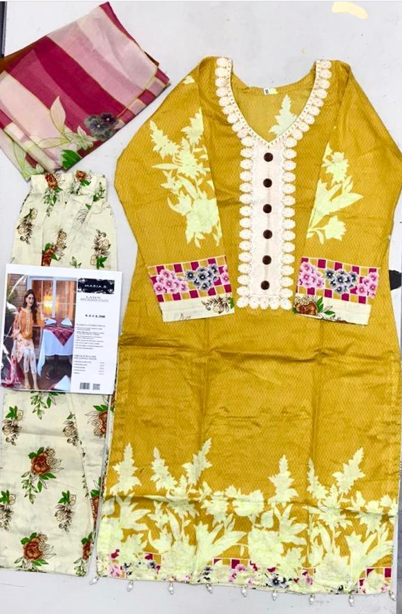 maria b lawn design Embroidered stitched salwar kameez summer clearance