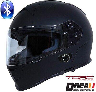 TORC T27B BLUETOOTH FLAT MATTE BLADE RED MODULAR MOTORCYCLE HELMET DOT XS XL