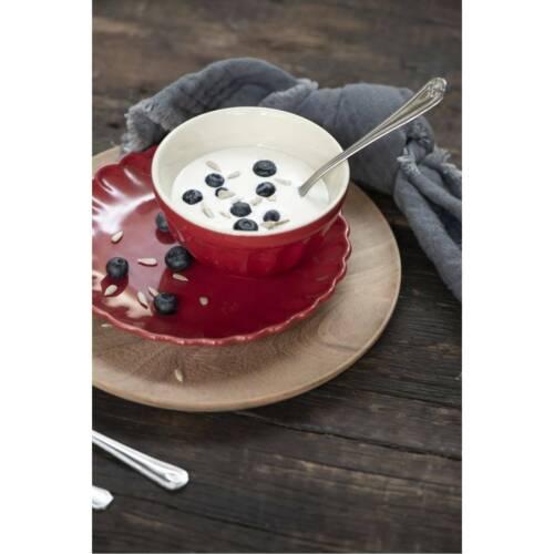 Dessertteller MYNTE STRAWBERRY rot D 19,5cm Ib Laursen 6er SET Kuchenteller