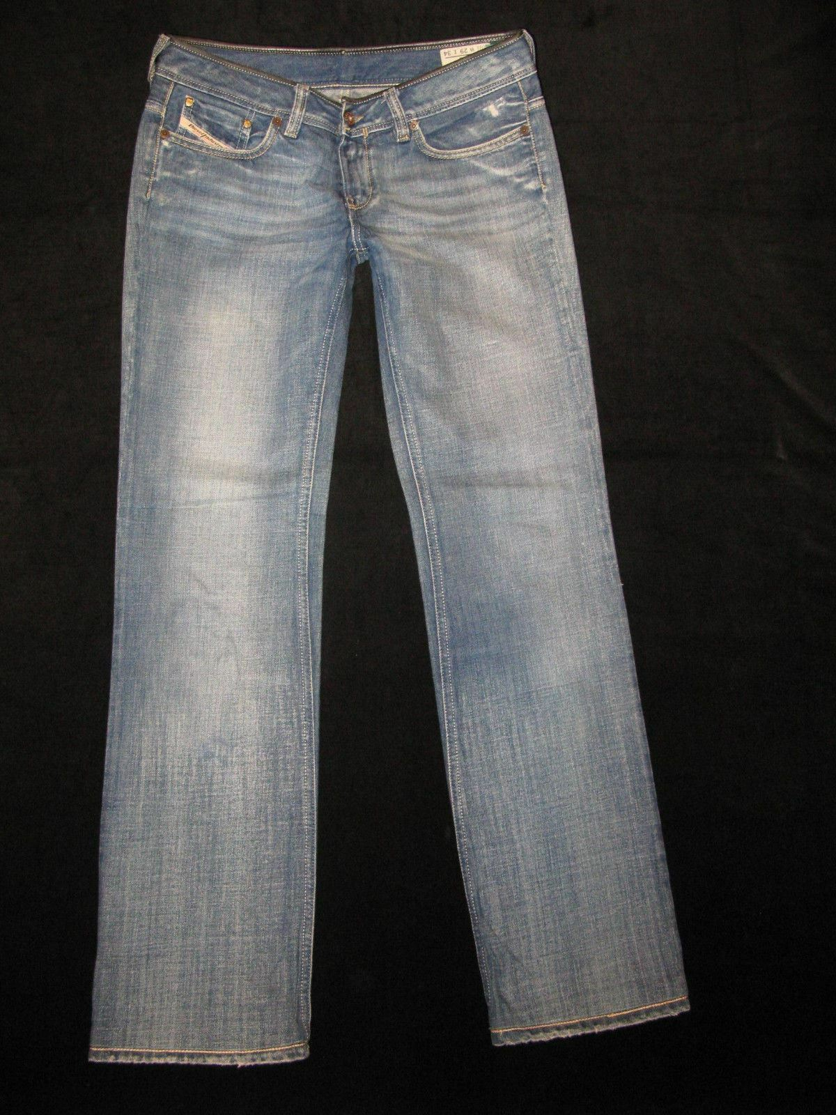 Diesel Bebel Jeans Womens Sz 29 Low Straight Leg 100% Cotton Distressed Wash