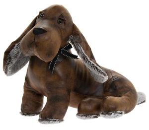Faux-Leather-Plush-Sitting-Dachshund-Sausage-Dog-Weighted-Doorstop