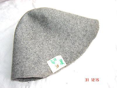 Hutstumpen Stumpen  Filz Zubehör Wolle mit Stichel  Zubehör Stumpen hellgrau N39