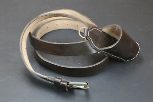 Old Stock Civil War Brown Leather Flag Staff Baldric Belt Carrying Sling Carrier