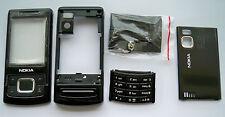 Black Faceplate Housing Fascia Facia Cover case for Nokia 6500s 6500 slide
