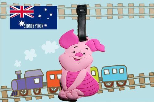 Winnie the Pooh Piglet Silicone PVC Cartoon Travel Luggage Name Tag School Tag