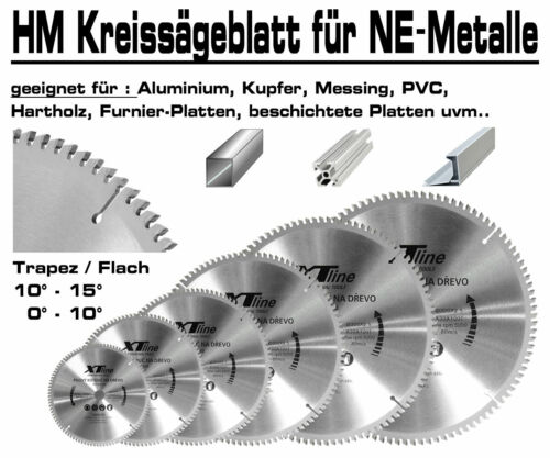 ALU Hartmetall Kreissägeblatt 350 mm x 30 x 100-Z Negativ Aluminium NE-Metall XT