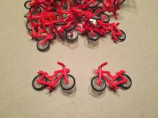 LEGO Red Bicycle Lot of 2 City Minifigure Accessory minifig
