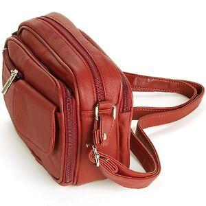 63dd126360cc Image is loading Womens-Leather-Organizer-Purse-Shoulder-Bag-Handbag-Cross-