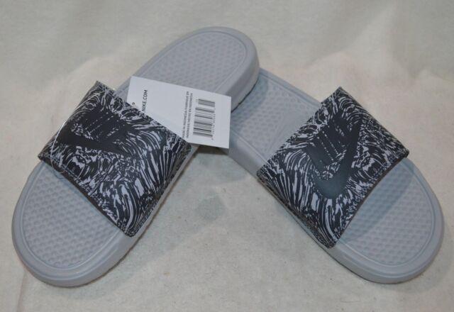 eb24f3799 Nike Benassi JDI Print Slide 631261 005 Wolf Grey  Anthracite Men Sz ...
