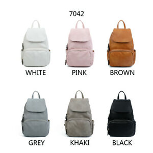 Faux-leather-multi-pocket-Backpack-Rucksack-for-Ladies-Girl-039-s-and-Women-039-s
