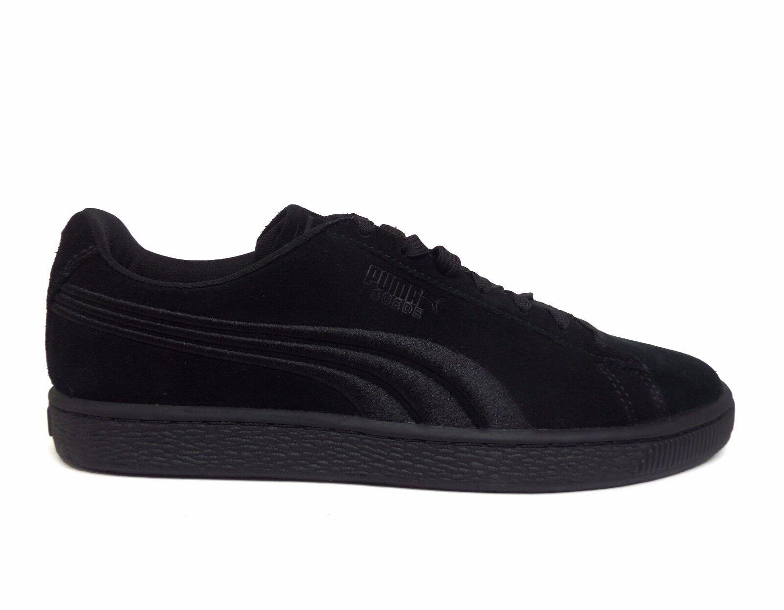 PUMA Men's SUEDE CLASSIC BADGE shoes Black Black 362594-01 b