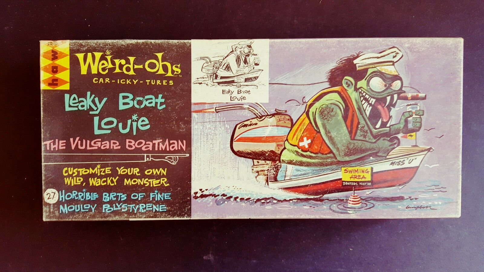VERY.RARE HAWK  WEIRD-OHS LEAKY BOAT LOUIE  ORIGINAL. ISS 534-100 COMPLETE 1963
