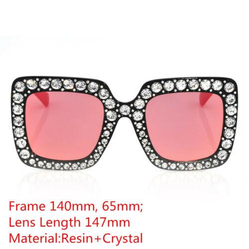 Oversized Rhinestone Large Square Frame Bling Sunglasses Women Fashion Shades by Unbranded/Generic