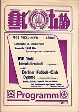 FDGB-Pokal 87/88 BSG Stahl Eisenhüttenstadt - BFC Dynamo, 31.10.1987