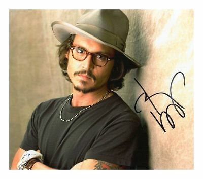 JOHNNY DEPP PIRATES AUTOGRAPHED SIGNED A4 PP POSTER PHOTO PRINT 1