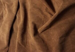 SUEDE TOFFEE BROWN Lambskin Leather Hide Piece #45 8x7""