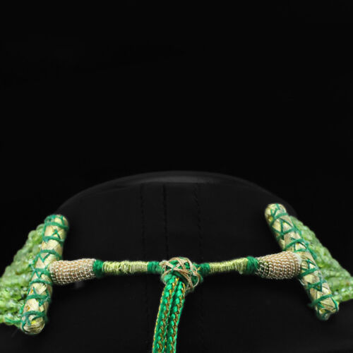 Réellement Excellent AAA 356.00 Cts Naturel Mousseux Vert Péridot Perles Collier