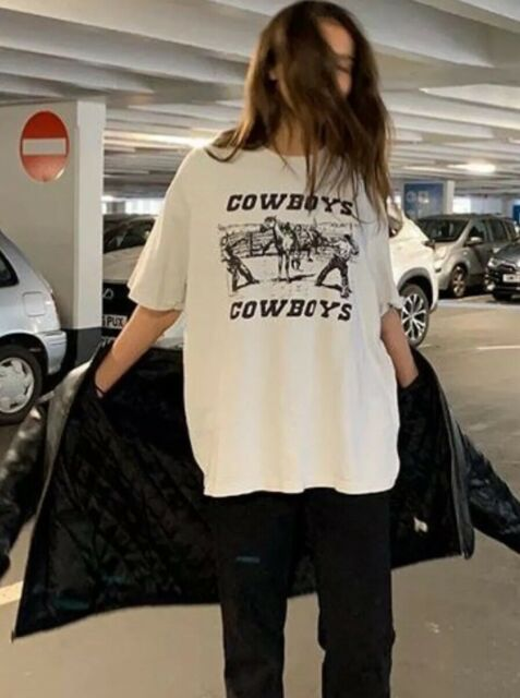 brandy melville off white crewneck oversize Rita cowboys top NWT sz L
