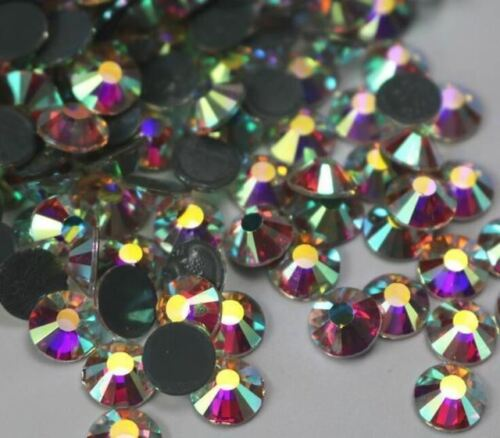 Clear AB//Crystal Clear DMC Super Bright Glass Strass Hotfix Iron On Rhinestones
