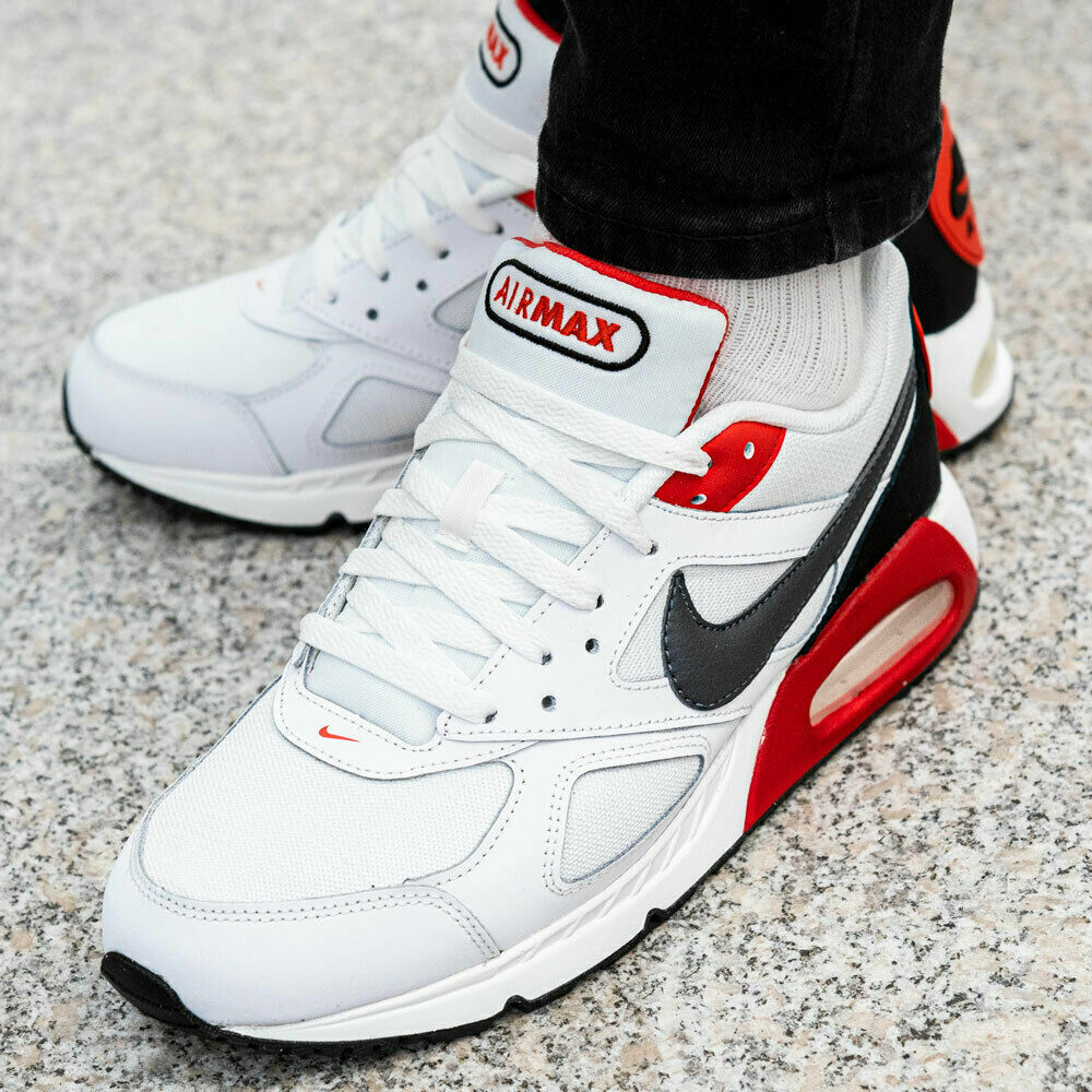 Nike Homme Air Max Ivo BlancHabanero RougeNoirGris Foncé Baskets Chaussures