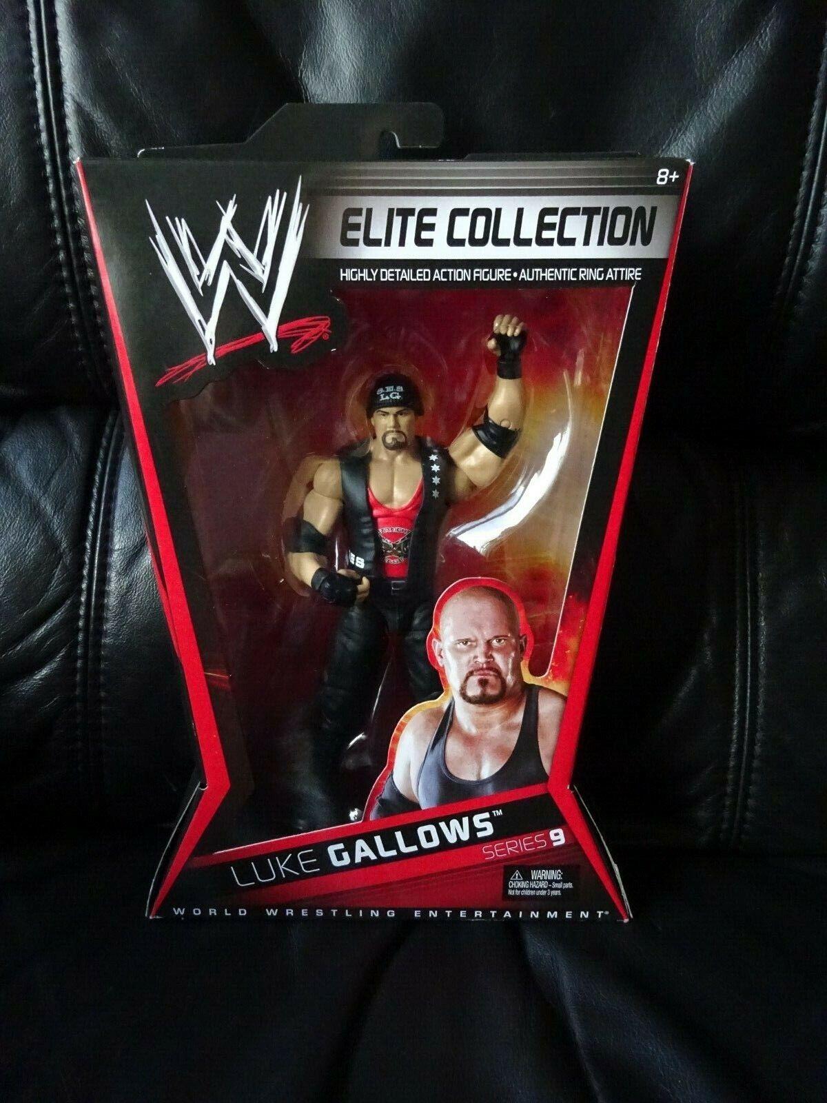 RARE WWE Luke FORCA Elite Collezione Serie 9 WRESTLING  cifra NUOVO CON SCATOLA V1357   Ritorno di 10 giorni