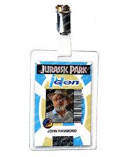 Jurassic Park ID Badge Ingen John Hammond Dinosaur Cosplay Costume Comic Con