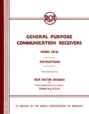 RCA CR-91 Communication Receiver Manual