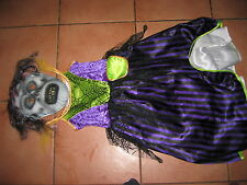 DRESSING UP FANCY DRESS MARKS & M&S HALLOWEEN 2 PIECE OUTFIT HT 117CM 4-6 YEARS