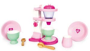 kinder kaffeemaschine holz rosa mit zubeh r puppenkinder puppenk che kinderk che. Black Bedroom Furniture Sets. Home Design Ideas
