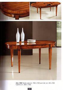 Tavolo ovale in legno allungabile ebay for Tavolo ovale allungabile legno