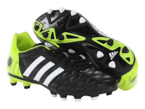 ADIDAS 11nova TRX TRX 11nova FG, SOCCER CLEATS BLACK, WHITE AND GREEN, SIZE 11 cbcc32