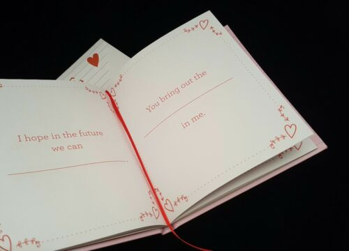 Love Notes Fill in the Blank Personalized Gift Book Special Gift for Him Her