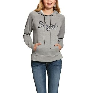 Ariat Womens 3D Logo Hoodie Heather Grey