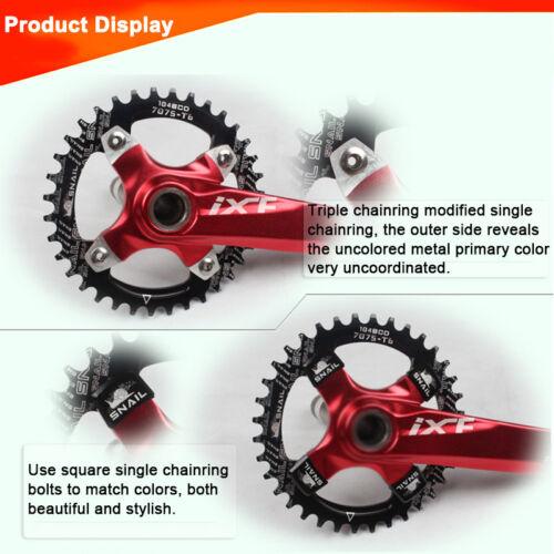 UK SNAIL 4PCS Aluminum Alloy MTB Bike Chainset Chainring Screws Square Bolts