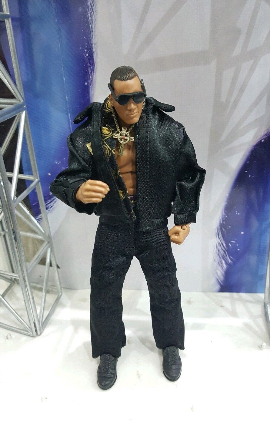 WWE MATTEL SERIE ELITE Definición de momentos la roca Battle Pack