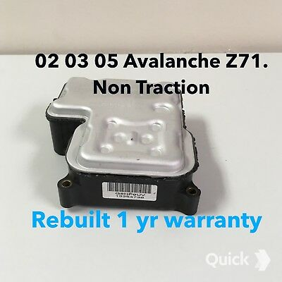 02 03 04 05 Chevy Avalanche Z71, ABS Module,EBCM Computer ...