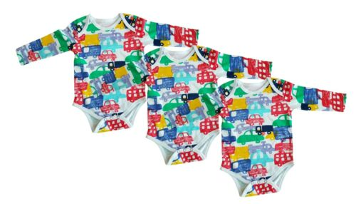 new car design long sleeve baby vests grow romper 0-24 months pack of 3 or 6