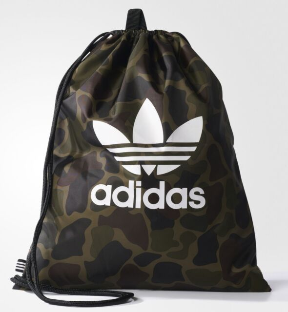 78b5611e78 ... adidas Originals Drawstring Camouflage Multicolor Gym Sack Sport Bag  NEW authorized site 5a182 5268a
