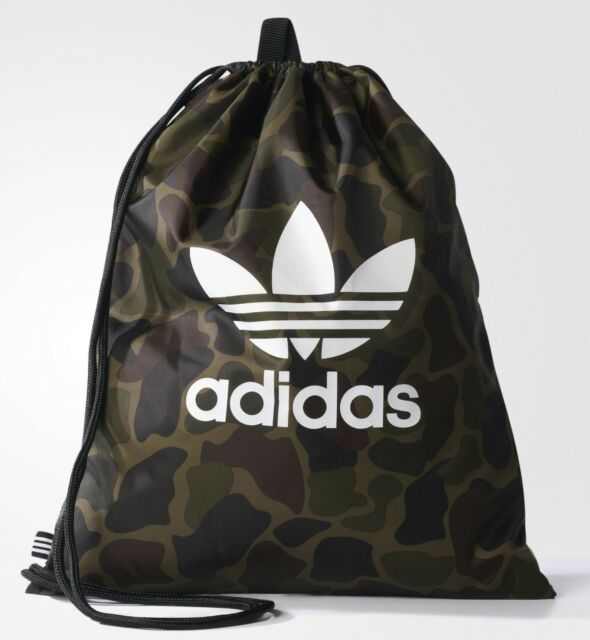 8b77cf60c8b6 adidas Originals Drawstring Camouflage Multicolor Gym Sack Sport Bag  NEW