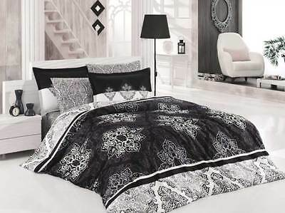 Willensstark Bettwäsche 200x200 Cm Bettgarnitur Bettbezug Baumwolle Kissen 5 Tlg Rapsodi Grau Verkaufsrabatt 50-70% Möbel & Wohnen Bettwäschegarnituren
