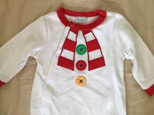 New Rock A Bye Baby Boutique Snowman Babygrow Suit Unisex Size 3-6 Months
