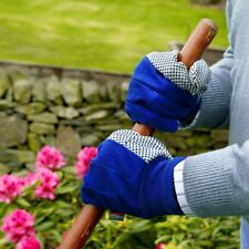 Town & Country Canvas Grip Garden Gloves Dotted Palm for Improved Grip - Large
