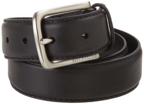Tommy Hilfiger Men/'s Premium 35MM Leather Casual Belt Black 11TL02X038