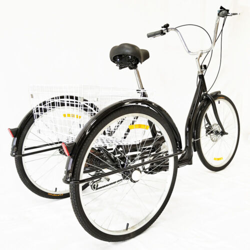 "26 /"" 6 speed 3 Wheel Adult Tricycle  Bike Bicycle shopping cart Cruise Basket"