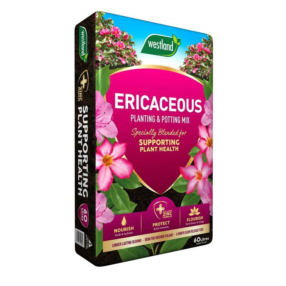 Westland Ericaceous Compost 60L azaleas and camellia - Buy 2 get Free Gloves